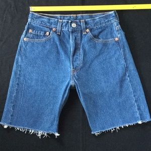Vintage 80-90's Levi 501 cut off shorts USA made